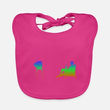 Television Television and television Rainbow Silhuette - Baby Bib