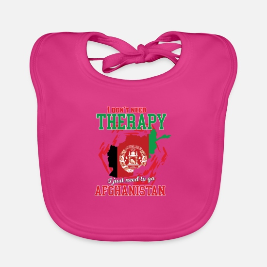 Travel Baby Clothes - I don't need therapy - afghanistan - Baby Bib fuchsia
