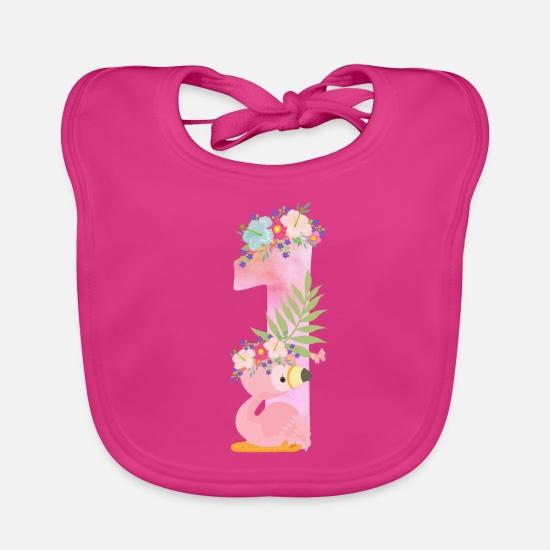 Super 1e verjaardag flamingo 1e verjaardag EEN baby kind Slabbetje DO-76