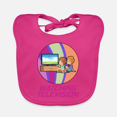 Television Television and television hobby in a circle - Baby Bib