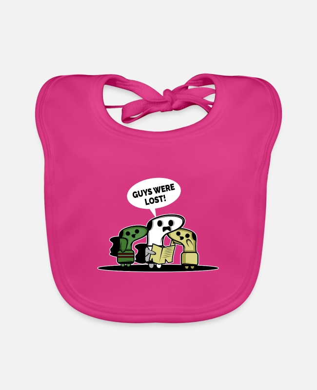 Commercial Baby Bibs - Guys we're lost. Housekeeper or laundry worker - Baby Bib fuchsia