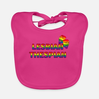 Stage Funny Drama Masks Lesbian Thespian graphic - Baby Bib