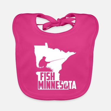 Addicted Minnesota Fishing Fish Minnesota print - Baby Bib