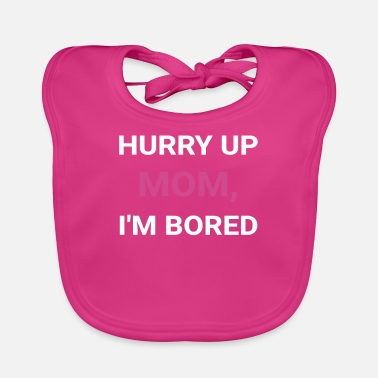 Ultras Hurry Up, Mom Marathon Support Running Spectator - Baby Bib