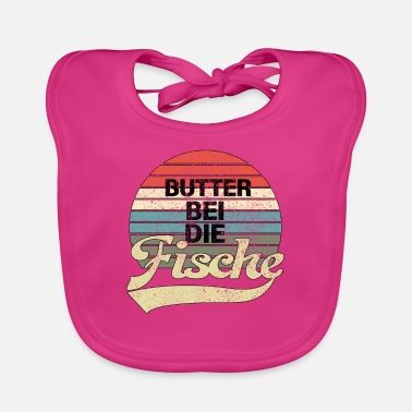 North German Butter with the fish - North German Low German - Baby Bib