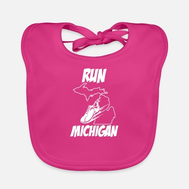 Michigan Tees Laufendes Design Run Michigan Runners Produkt - Lätzchen