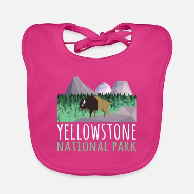 Helped Dome US Bison Buffalo Yellowstone National Park - Baby Bib