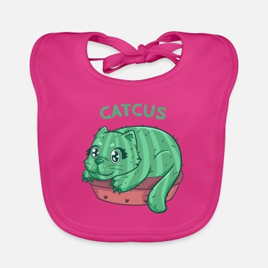 House Tiger Catcus cat cactus kitten house tiger - Baby Bib
