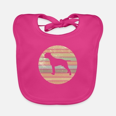 Dog Duitse Boxer Dog Retro Dog Training Gift - Slabbetje