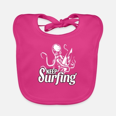 Squid surfing wave surfing accessories giant squid gift - Baby Bib