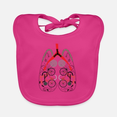 Cyclist lung from bicycle parts - Baby Bib