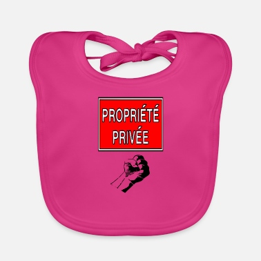 Privateer private property - Baby Bib