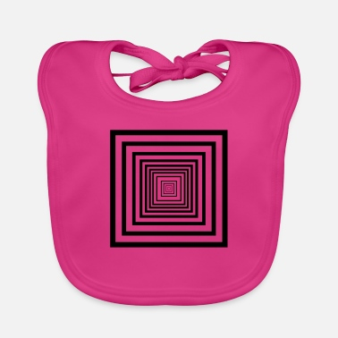 Rectangle rectangles - Baby Bib