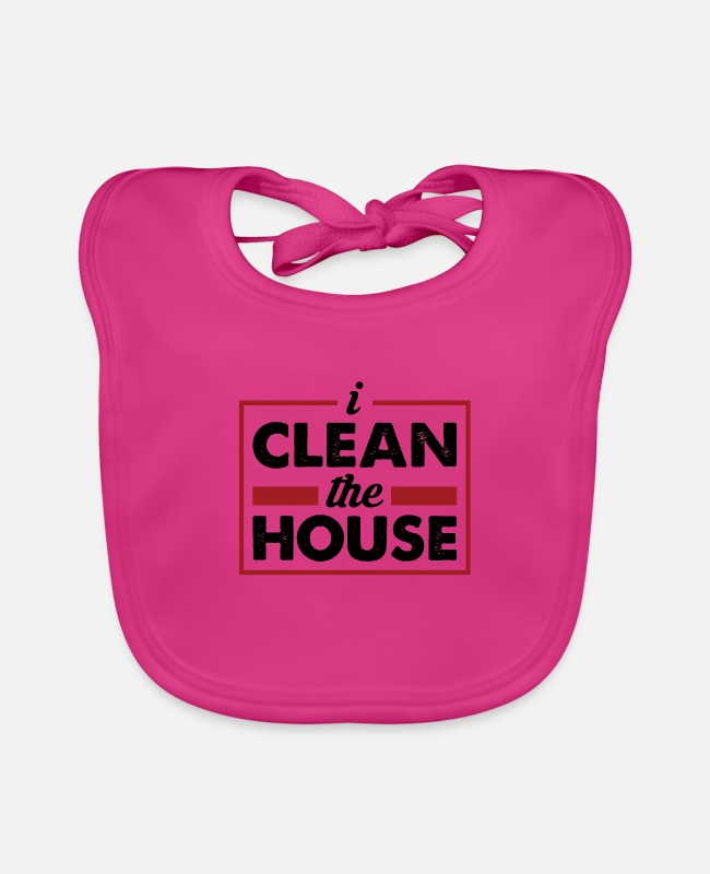 Clean Up Baby Bibs - I Clean the house - the facility manager at home - Baby Bib fuchsia