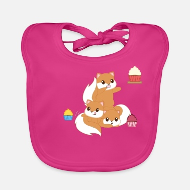 Squirrel Squirrel - croissant - muffin - cupcake - Baby Bib