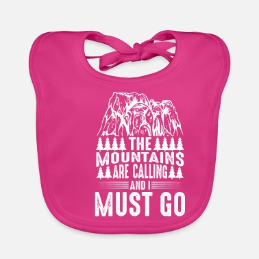Pitch The mountains call me - Baby Bib