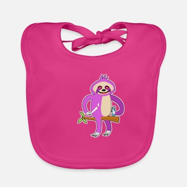 Smoke Weed Sloth Lazy Chilling Smoking Joint Weed Relaxing - Baby Bib