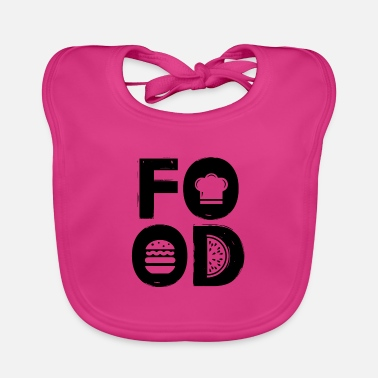 Food FOOD - food lover gift idea - Baby Bib