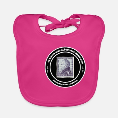 Goethe stamp collector philately happy - Baby Bib