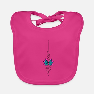 Rose Flower rose mandala tattoo gift - Baby Bib