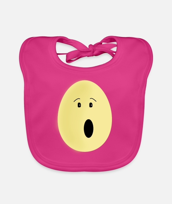 Easter Baby Clothes - Egg easter egg - Baby Bib fuchsia