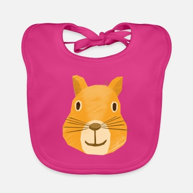Eagerness Ella, the eager squirrel - Baby Bib