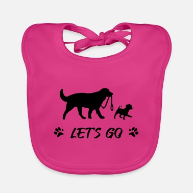 Go For A Walk Dogs go for a walk - Baby Bib