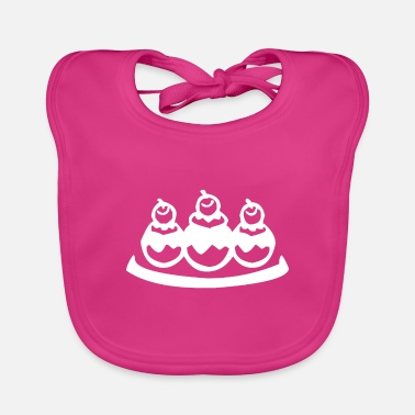 Candy Tasty chocolate balls in the ice cream parlor - Baby Bib