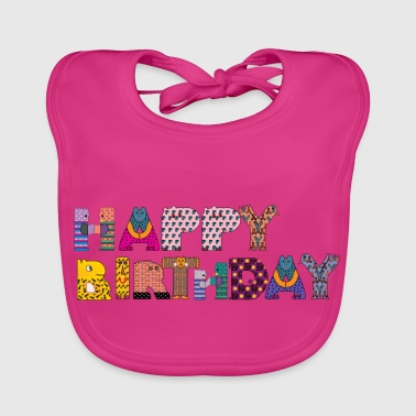 Happy Birthday - Baby Organic Bib