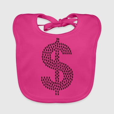 dollar sign - Baby Organic Bib
