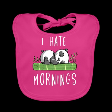 I Hate Mornings - Bamboo Panda Bear - Strip - Bio-slabbetje voor baby's