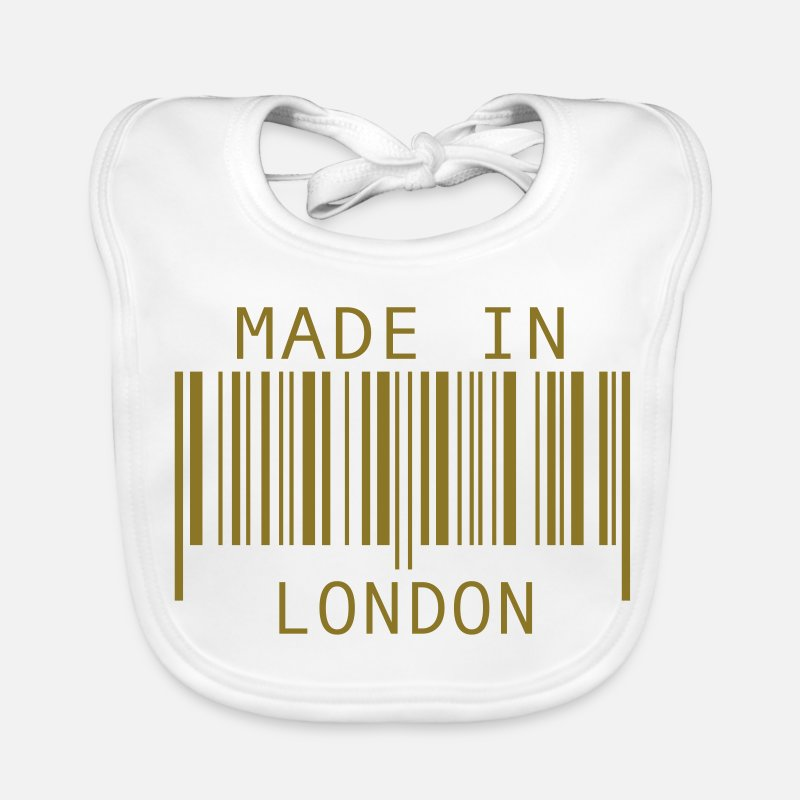 London Baby Clothing - Made in London - Baby Bib white