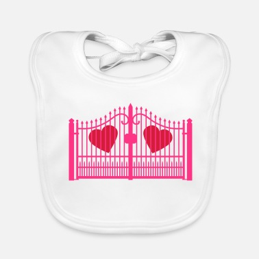 Gate gate for hearts_c1 - Baby Bib