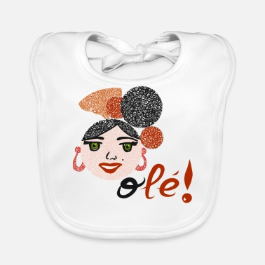 Flamenco Flamenco and OLEE !! - Baby Organic Bib