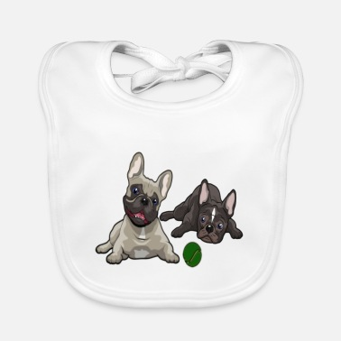 French Bulldog French Bulldog, French Bulldog - Baby Organic Bib