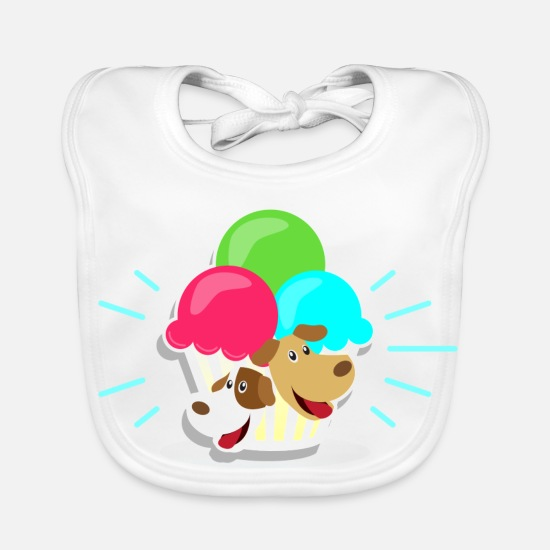 Gift Idea Baby Clothes - Ice and dogs I gift - Baby Bib white