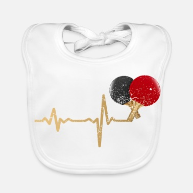 Ball Gift Heartbeat table tennis racket - Baby Organic Bib