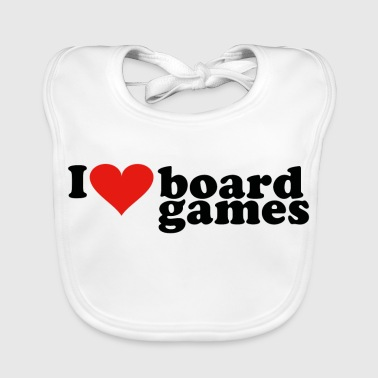I love board games heart game - Baby Organic Bib
