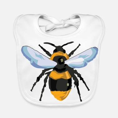 Closeup Bee from hive in closeup for beekeeper - Baby Bib