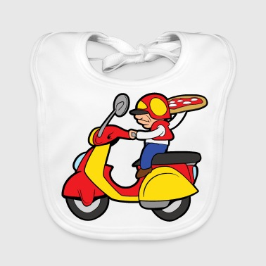 Delivery Pizza delivery delivery baker pizzeria - Baby Organic Bib