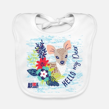 Officialbrands Animal Planet Too Cute Rehkitz Hello My Deer - Baby Bio-Lätzchen