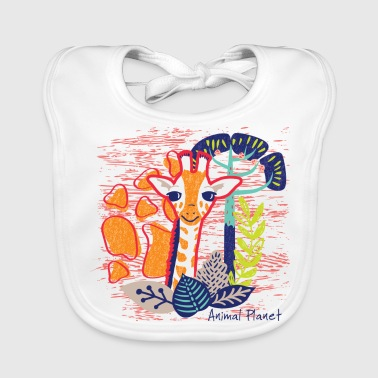 Animal Planet Too Cute Giraffe Illustration - Baby Organic Bib