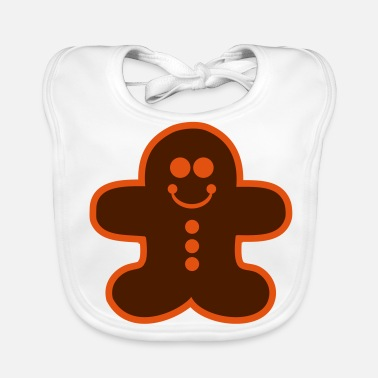 Gingerbread Man gingerbread man - Baby Organic Bib