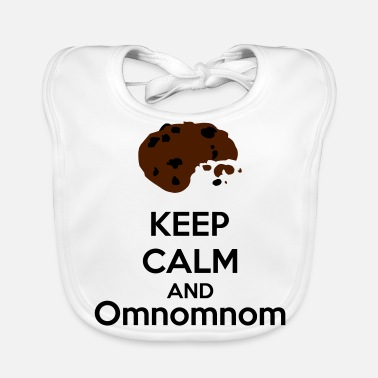 Keep Calm Keep Calm And Omnomnom - Bavoir bio Bébé