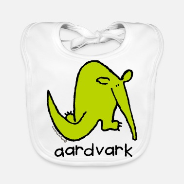 Aardvark 'aardvark' - Bang on the door - Baby Organic Bib