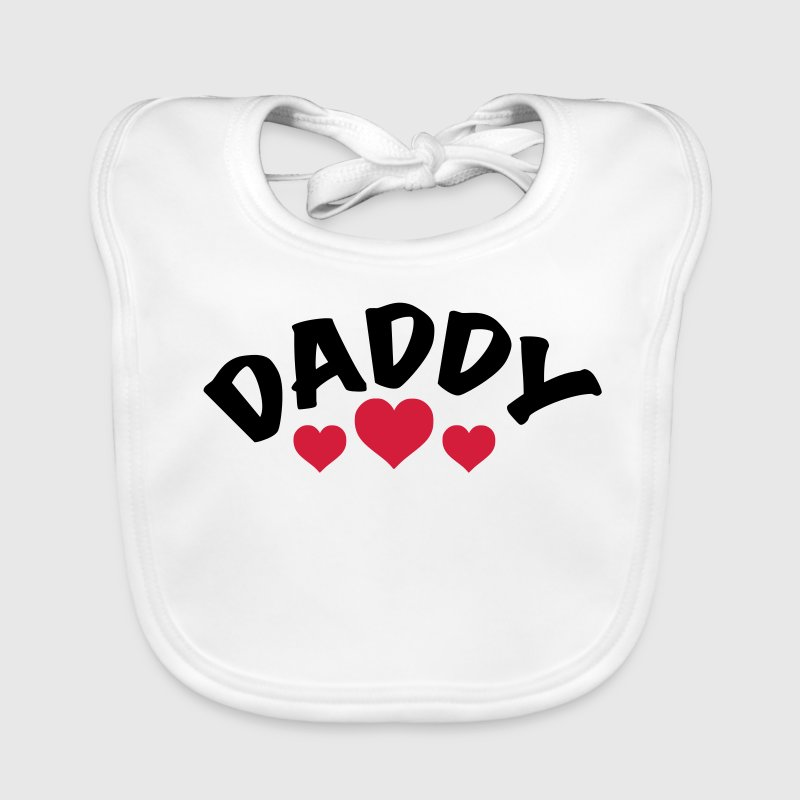Dad / Daddy / Papa / Herz / i love my dad 2c - Baby Bio-Lätzchen