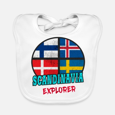 Scandinavie Scandinavie Explorer / Scandinavie / Cadeau - Bavoir bio Bébé