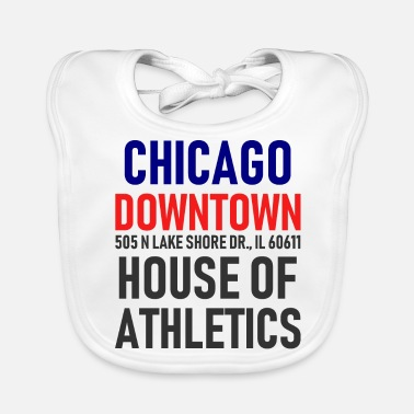 Chicago Chicago Downtown - Athletics House - Illinois - Ekologisk babyhaklapp