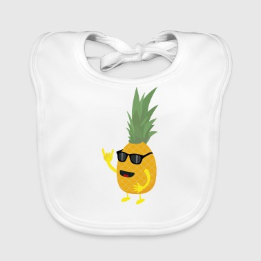 Heavy metal pineapple - Baby Organic Bib