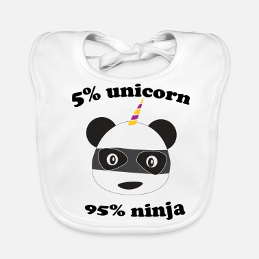 Por Ciento 5 por ciento Unicornio 95 por ciento Ninja - Babero 8d24b2bcbe142
